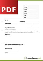 Deckblatt der für PDF-Datei Widerspruch gegen Einstufung in Pflegestufe
